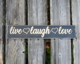 Popular Items For Live Laugh Love