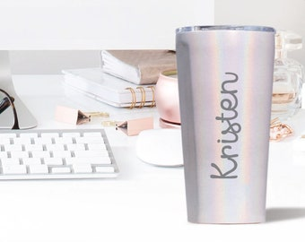 Unicorn Corkcicle Tumbler With Decal - 16 Oz. - Coffee Tumbler, Teacher Gift, Bridesmaid Gift, Girlfriend Gift, Mothers Day, Grad Gift