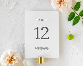 """Delicate Floral Printed Table Numbers - 5x7"""" or 4x6"""" 