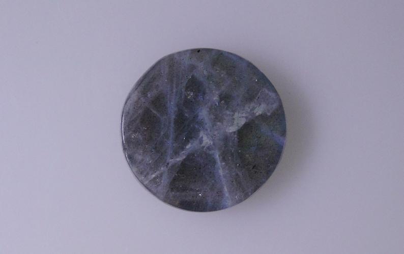 33.96 carats   051-21-086 Labradorite Man In Moon carved gemstone