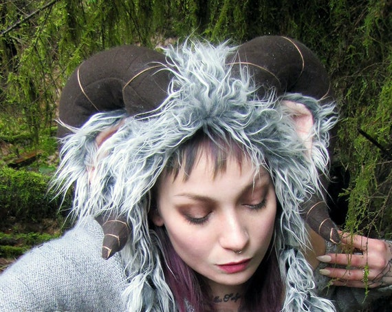Ram Horns and Ears Soft Sculpture Hat