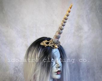Filigree Rococo Unicorn Horn Fantasy Headband