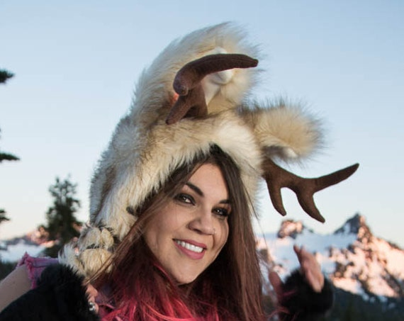 Jackalope Soft Sculpture Ear and Antler Hat