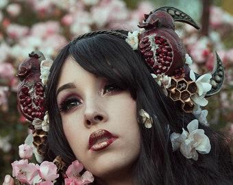 Queen of the Underworld Art Nouveau Crown