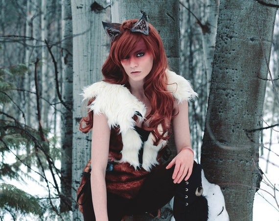 Feral Fox Huntress Crescent Moon Costume Ensemble