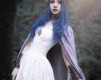 Gilded Faun Rainbow Moonstone & Antler Crown