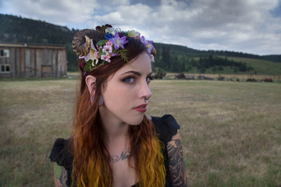 Maenad Small Ram Horn Headdress