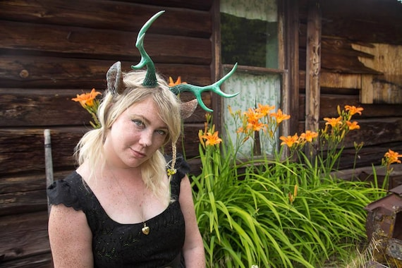 Painted Medium Antlers and Faun Ears