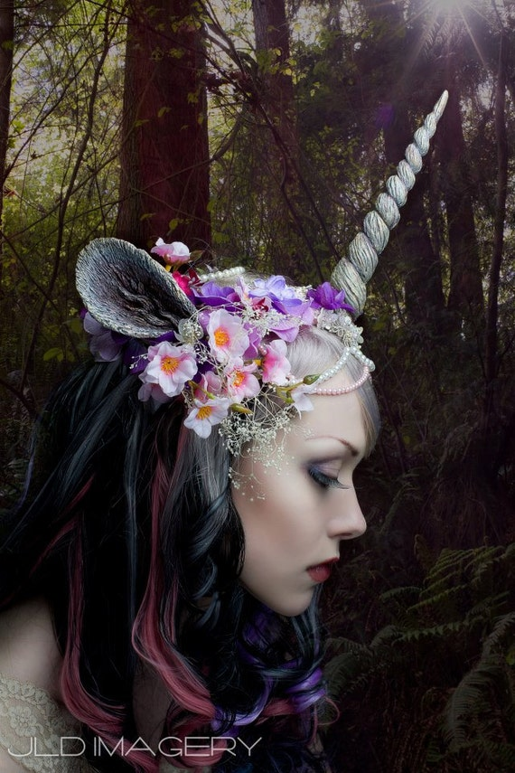 Unicorn Nymph Horn and Ear Headdress