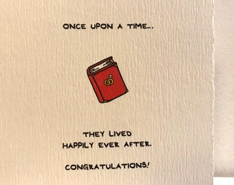 Once Upon A Time. They Lived Happily Ever After. Love engagement cute wedding made in Canada stationery Valentine romance love storybook
