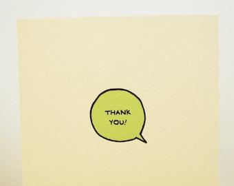 Thank You Speech Bubble Cute Card Gratitude Nice Sweet Friend Adorable Made in Toronto Canada Thanks