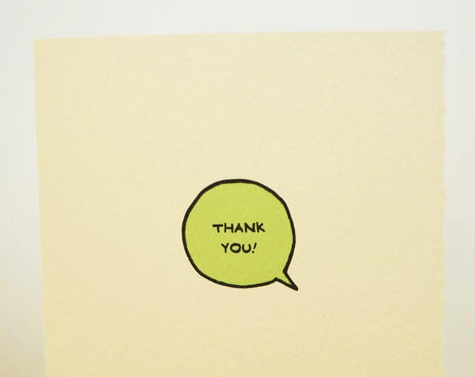 Thank You Speech Bubble Cute Card Gratitude Nice Sweet Friend Adorable Made in Toronto Canada Thanks
