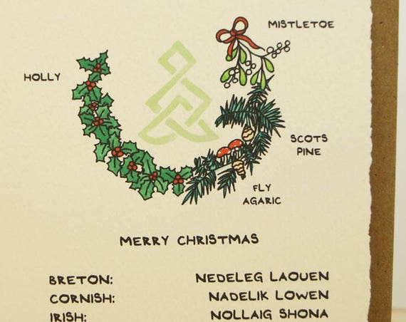Celtic Merry Christmas! Celtic greeting card made in Canada stationery celtic knot Breton Cornish Irish Manx Scottish Welsh StPatricksDay