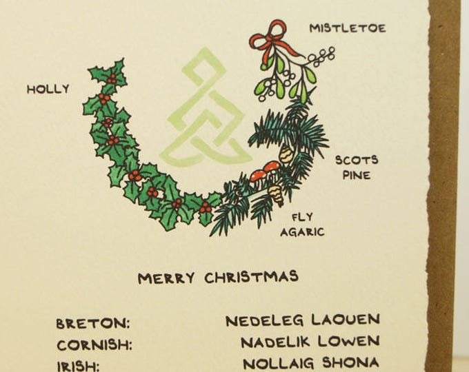 Celtic Merry Christmas! Celtic greeting card made in Canada stationery celtic knot Breton Cornish Irish Manx Scottish Welsh StPatricksDay