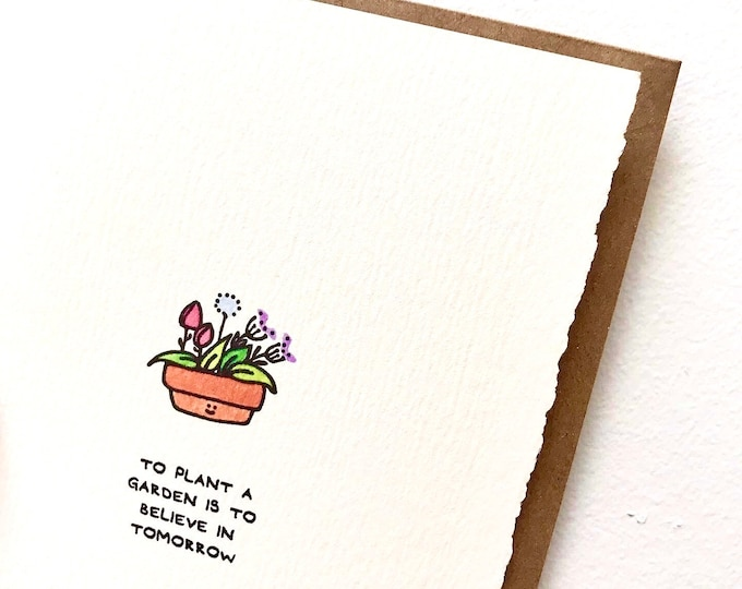 Pandemic greeting card support garden gardening flowers positivity nice Mom Sister Friend Adorable Made Canada Toronto Wholesale Kids cute