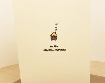 Happy Housewarming! Greeting card cute adorable paper made in Canada snail mail stationery house scarf home brick nest neighbour