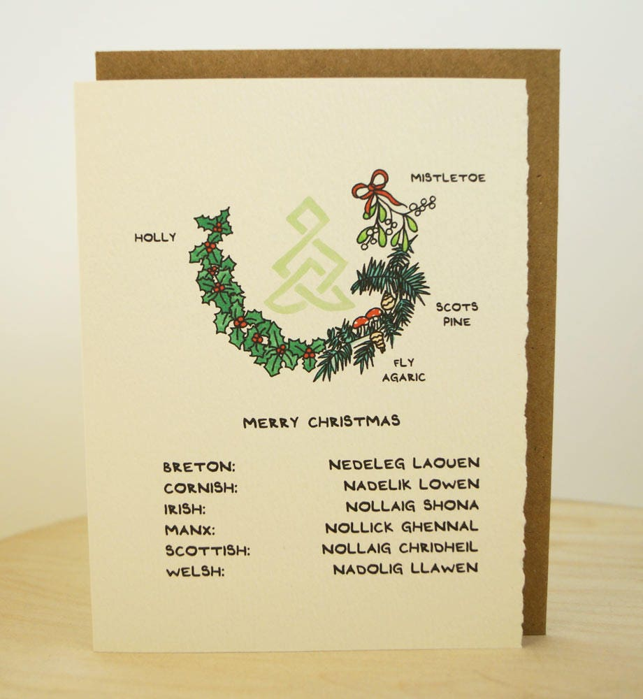 Celtic Merry Christmas! Celtic greeting card made in Canada ...