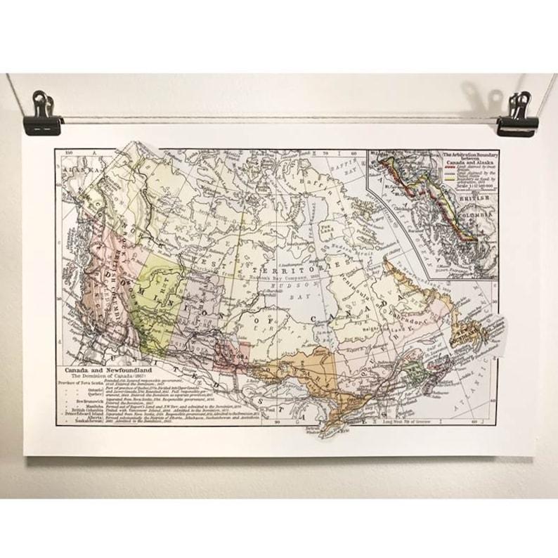 Map Of Canada Confederation.Map Of Canada Confederation Antique Map Canada150 Eco Canadian Made In Canada 1867 Ontario British Columbia Quebec Maritimes History