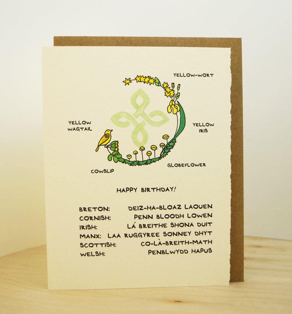 Celtic happy birthday greeting card cute adorable made in canada celtic happy birthday greeting card cute adorable made in canada celtic breton cornish irish manx scottish welsh isles st patricks day m4hsunfo