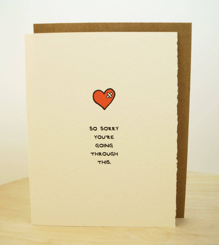 So Sorry Youre Going Through This Greeting Card Cute Adorable Paper