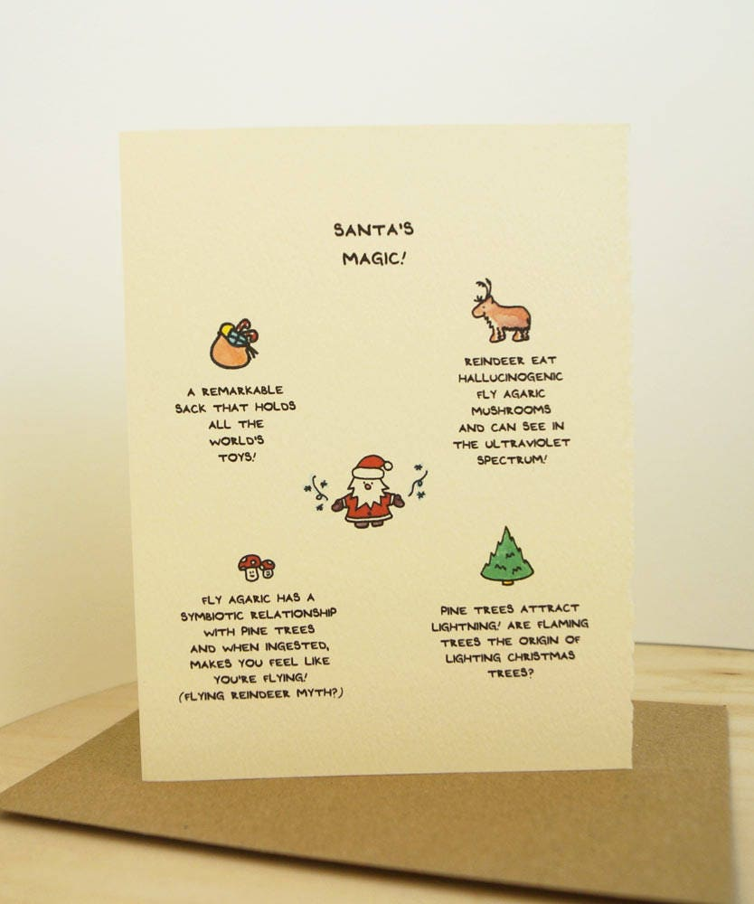 Santa's Magic Facts Christmas Card Season's Greetings