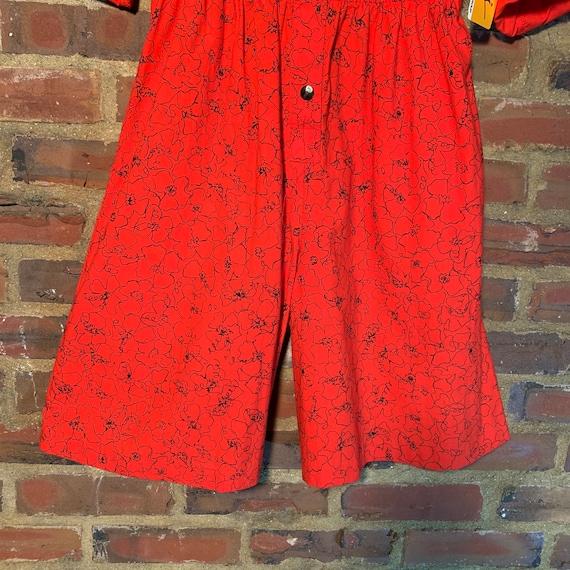 Rare NWT 80s Vintage Dreams romper Red w/Black Pr… - image 10