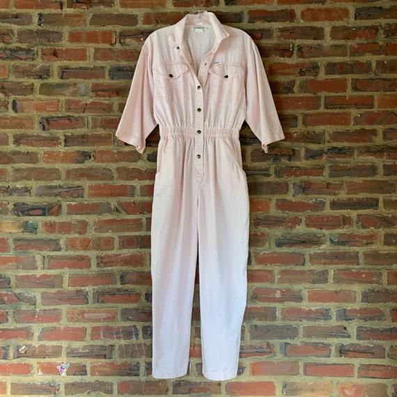 Cute Light Pink Vintage 80s Cotton IDEAS jumpsuit