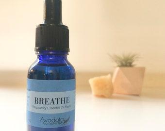 Respiratory Essential Oil Blend - BREATHE | Vegan | Kosher | Fair Trade | Cruelty Free