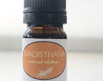 Sacral Chakra Oil - Svadisthana 100% Pure Essential Oil Blend