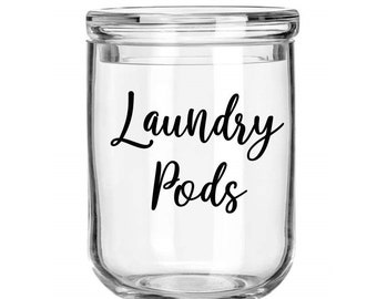 Laundry Pods Label Decal / Laundry Room Decor / Laundry Detergent Label / Laundry Pod Sticker / Laundry Room Organization Labels