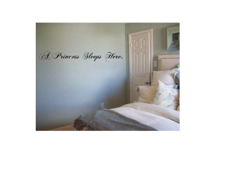 A princess sleeps here Decal, Girl's Bedroom Decal Sticker, Princess Decal  Wall Words, Sleep Decal Sign, Princess Decal Sticker, Nursery