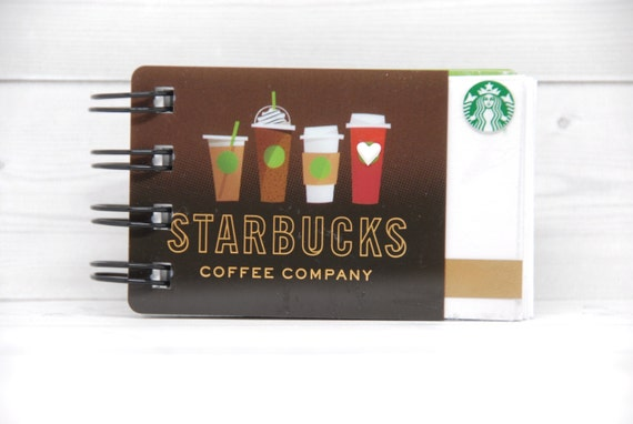 Starbucks Notebook Gift Card Covers Front And Back Etsy