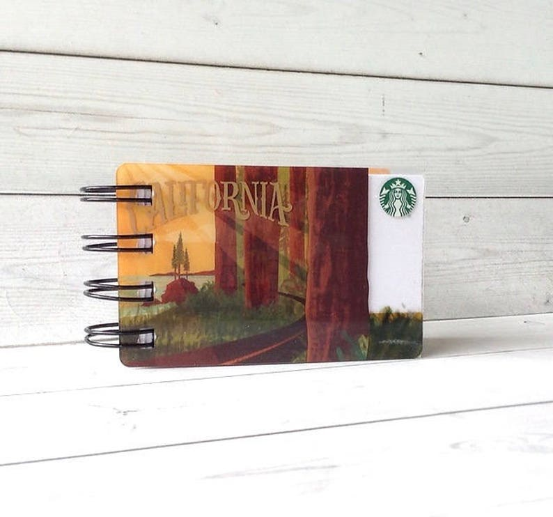 Gift Card Covers front and back STARBUCKS Notebook