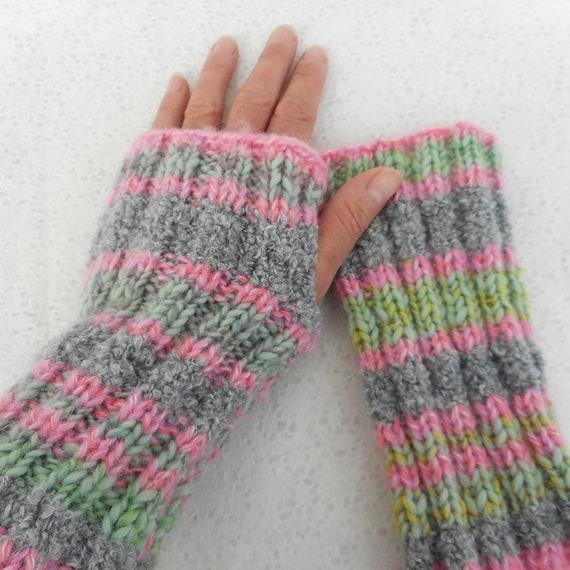 Knitting Pattern Fireside Super Easy Glove Pattern Mens Etsy