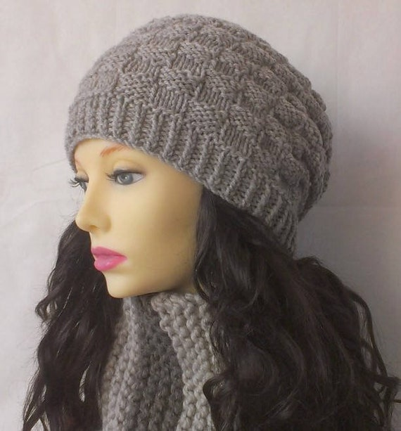 Knitting PATTERNS Slouchy Beanie Chunky Hat Knitted Gift for Mom Sister New  Mom Gift for Her Birthday Instant Download FARMERS MARKET
