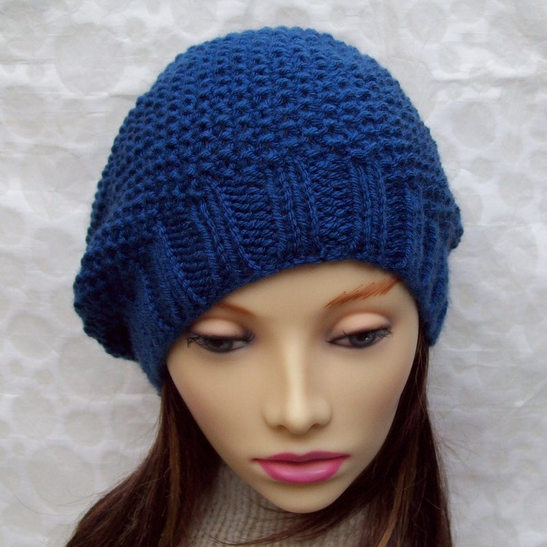 KNITTING PATTERN/Womens Slouchy Hat Knit in the Round ...