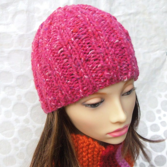 Quick Knit Beanie KNITTING PATTERNS Easy Knit Womens Chunky  7ab066cb8c1