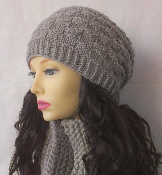 Knitting Patterns Slouchy Beanie Chunky Hat Knitted Gift For Etsy