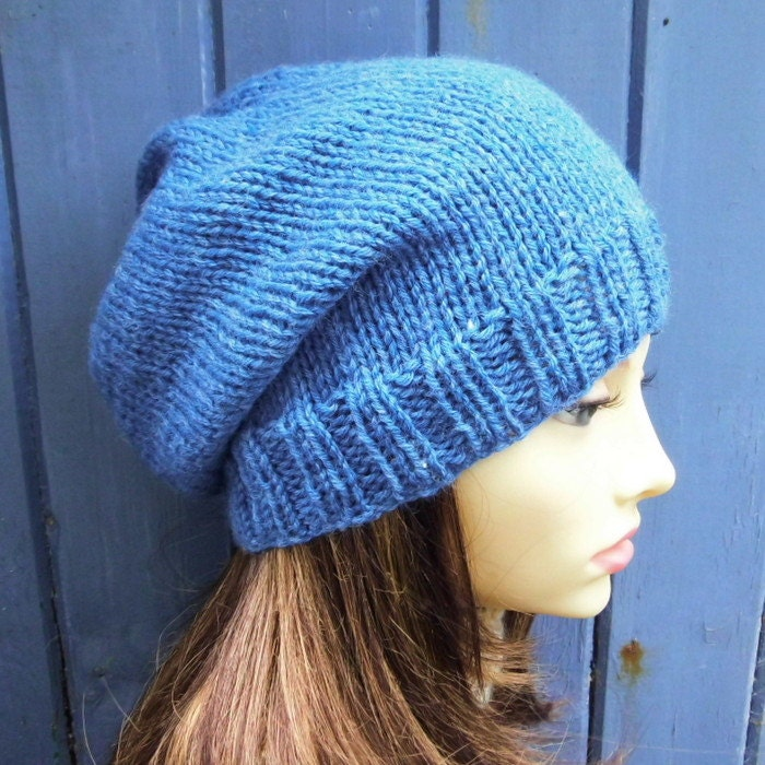 Womens Slouch Beanie Pattern Easy Slouch Hat KNITTING ...
