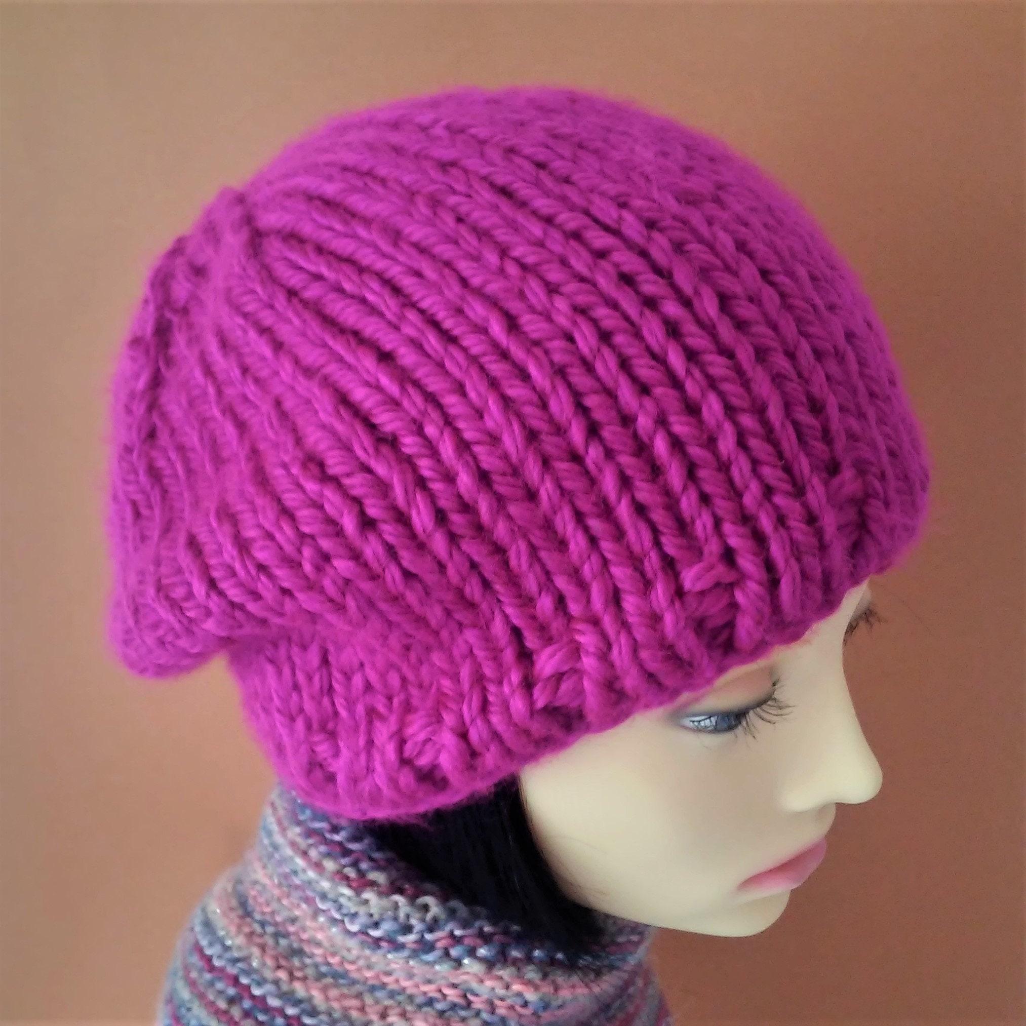 Slouchy Hat Knit Pattern Straight Needles