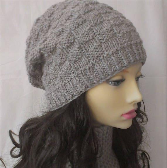 Knitting Pattern Farmers Market Hat Capwomans Knit Winter Hat Etsy