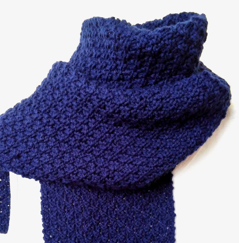 Scarf Knitting Pattern Womens Long Winter Scarf Easy Christmas Etsy