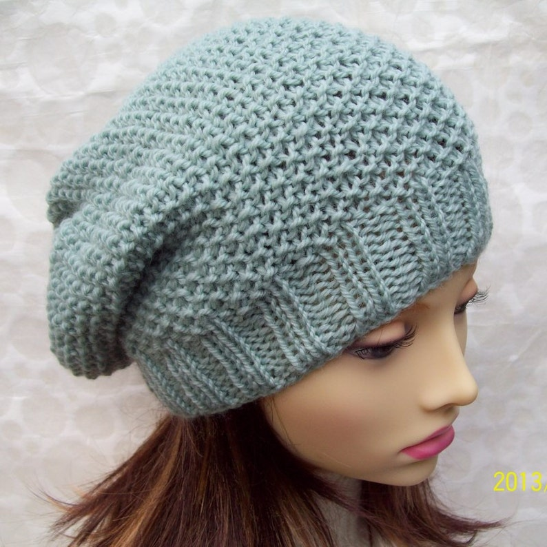 3ea5c18245d KNITTING PATTERN   ROXANNE Womans Slouchy Beanie Hat Slouch