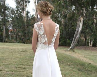Flora romantic silk wedding gown