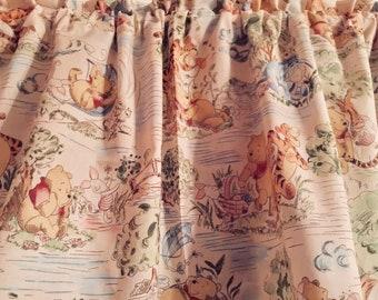 301762e8735f Baby Nursery Toddler Window Curtain Valance From Cream Classic Winnie the  Pooh Tigger Eeyore Cotton Fabric 42