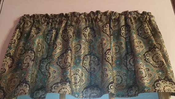"Window Curtain Valance  Basketball Game 43/""wide 15/"" long Cotton fabric"