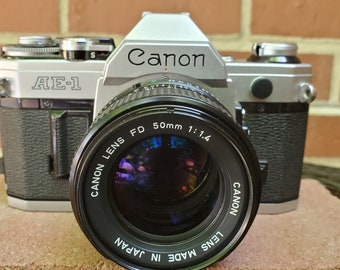 Vintage Canon AE-1 35mm film Camera