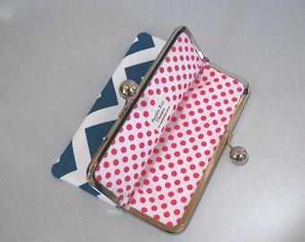 "iPad mini and eReader / Kindle / Nook Clutch Case ""Chevron Aquarius"""