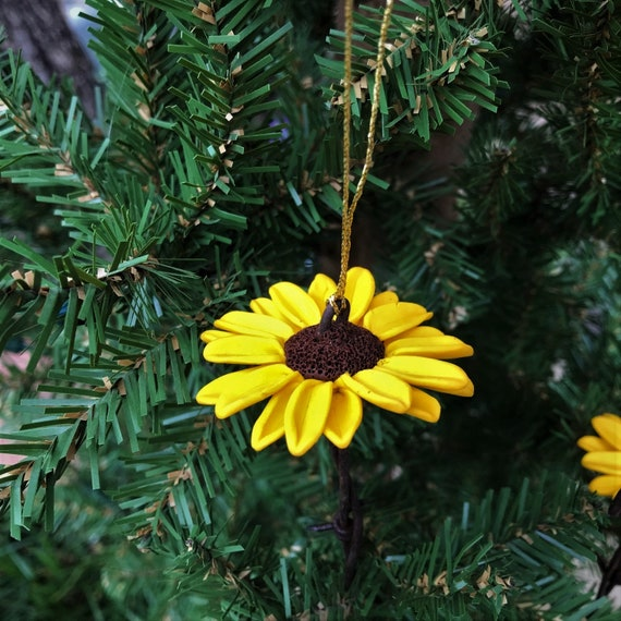 black eyed susan wild flower christmas ornament on a barbed etsy