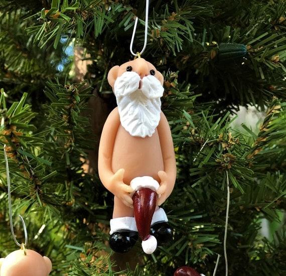 image 0 - Naughty Santa Christmas Ornament Bad Santa Naked Santa Etsy